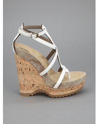 Stella McCartney White Wedge Heel Sandal