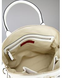 Valentino White Leather Floral Bag