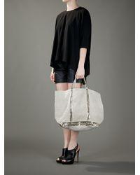 Vanessa Bruno White Sequin Embellished Tote