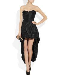 Vivienne Westwood Gold Label Black Bubbly Paperbag Silktaffeta Dress