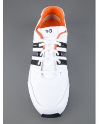 Y-3 White Classic Sprint Trainer for men