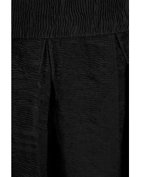 Zac Posen Black Pleated Crepe A-line Skirt