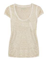 Zadig & Voltaire | Natural Oscar Burnout Cotton-jersey T-shirt | Lyst