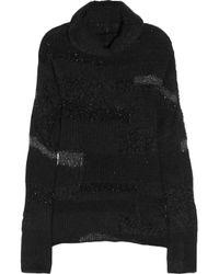 Zadig & Voltaire Black Reno Deluxe Tinsel-trimmed Sweater