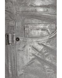 Zadig & Voltaire Metallic Darkside Silver Low-rise Straight-leg Jeans