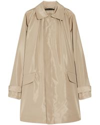 Ralph Lauren Black Label | Natural Devora Silk-faille Trench Coat | Lyst