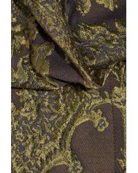 Vivienne Westwood Anglomania Green Floral Jacquard Bolero Cape