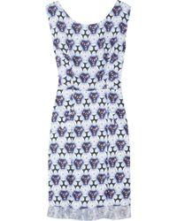 Acne | Blue Betty Print Dress | Lyst