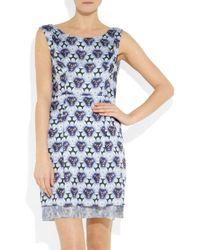 Acne Studios | Blue Betty Print Dress | Lyst