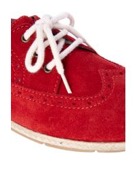 French Connection Red Delia Laceup Espadrilles