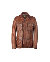 Belstaff | Brown Brad Perforated Leather Jacket for Men | Lyst
