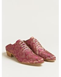 Haider Ackermann Purple Womens Babouche Style Oxford Shoes