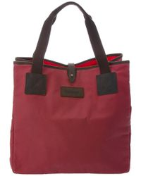 Barbour Red Wax Shopper