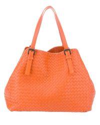 Bottega Veneta Orange Woven Bag