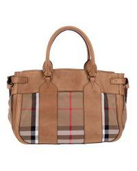 Burberry Brown Tartan Bag