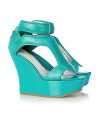 Camilla Skovgaard | Blue 120mm Leather Sandal Wedges | Lyst