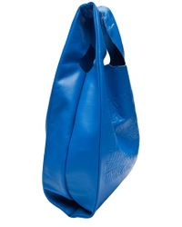 Cast Of Vices Blue Thank You Leather Shopper