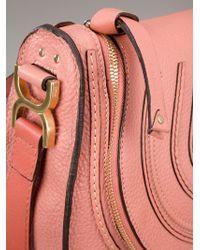 Chloé Pink Marcie Shoulder Bag
