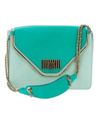 Chloé Green Two Tone Bag