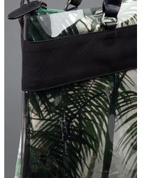 Dries Van Noten Green Palm Tree Print Tote Bag