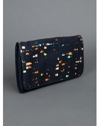 Dries Van Noten Multicolor Printed Clutch
