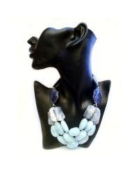 La Diosa   Blue Kezen Necklace   Lyst
