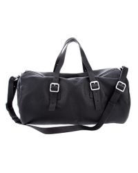 Marc By Marc Jacobs Black Buckled Holdall for men