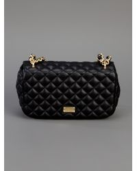 Boutique Moschino Black Quilted Chain Bag