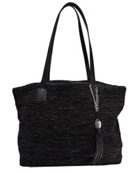 Olivia Harris Black Colombier Tote Bag