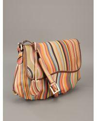 Paul Smith Multicolor Stripe Print Shoulder Bag