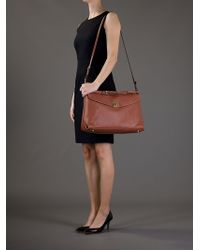 Sergio Rossi Brown Shoulder Handbag