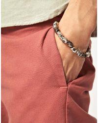 Simon Carter   Metallic Skull Bracelet for Men   Lyst