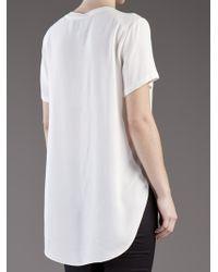 3.1 Phillip Lim   White Overlapping Tshirt   Lyst