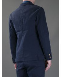 Adam Kimmel Blue Navy Two Button Canvas Blazer for men