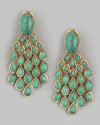 Aurelie Bidermann | Green Turquoise Drop Earrings | Lyst