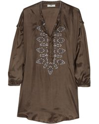 Day Birger et Mikkelsen | Green Day Safari Embroidered Silk Tunic | Lyst
