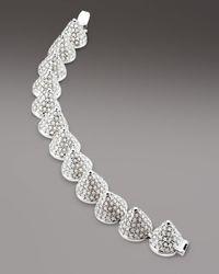 Eddie Borgo - Metallic Cone Bracelet White - Lyst