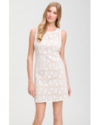 JS Collections | White Sleeveless Lace Dress | Lyst