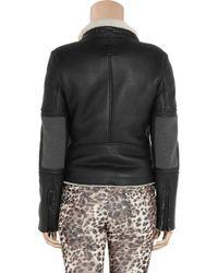Lot78 | Black Blake Shearling and Leather Biker Jacket | Lyst
