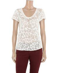 Zadig & Voltaire   White Azar Deluxe Skullburnout Jersey Tshirt   Lyst