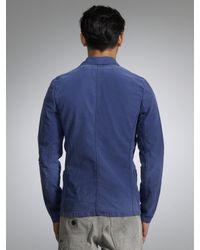 Denham Blue Mao Worker Jacket for men