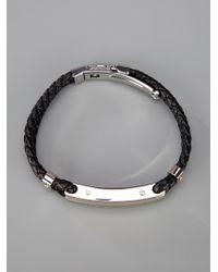 Dolce & Gabbana | Black Logo Bracelet for Men | Lyst