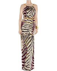 Emilio Pucci Multicolor Zebra Print Jersey Gown