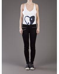 J Brand | Black Zoey Mid-rise Skinny Jeans | Lyst