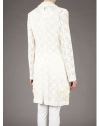 Junya Watanabe | White Floral Lace Coat | Lyst