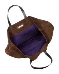 Marni Purple Reversible Suede Tote