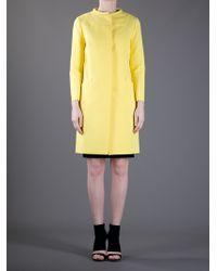 Marni Yellow Round Neck Coat