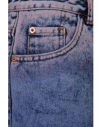 TOPSHOP Blue Purple Dip Dye Hotpants