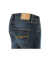 Nudie Jeans Blue Sharp Bengt Organic Dark Broke Jeans for men