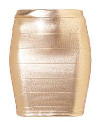 TOPSHOP Metallic Bronze Bodycon Skirt